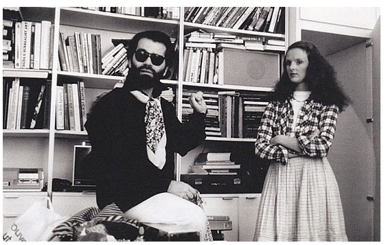 Karl Lagerfeld and Grace Coddington, 1974