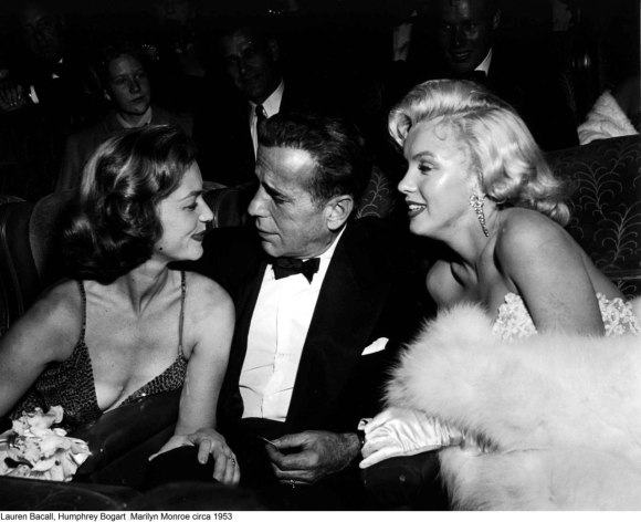 Lauren Bacall, Humphrey Bogart & Marilyn Monroe