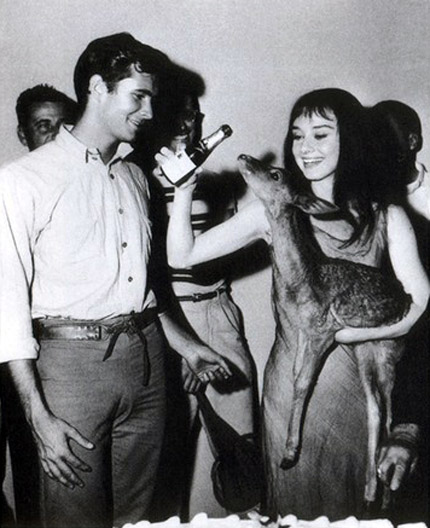 Anthony Perkins and Audrey Hepburn