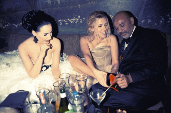 Dita Von Teese, Scarlett Johansson, and Christian Louboutin